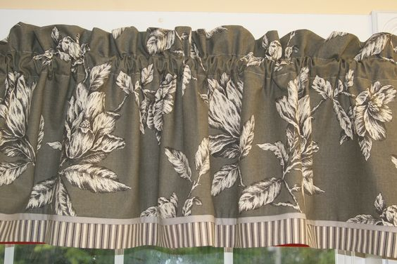 Cathell Antebellum Magnolia Slate Gray White Toile Valance 17 X 54 Curtain Can Alter Window Treatment