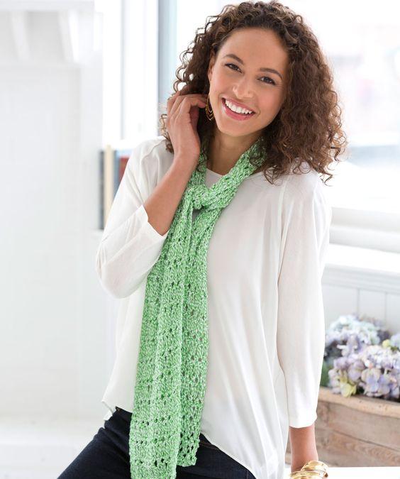 Spring Scarf Knitting Pattern : Drop Stitch Spring Scarf - free pattern Knitting ...