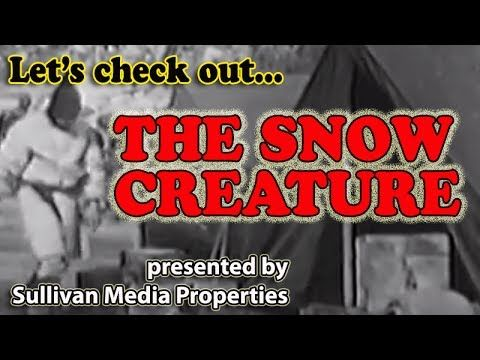Let's Check Out ... The Snow Creature || a Sullivan Media Properties classic MOVIE archive encore with the guy from that thing  The Snow Creature (1954)  American botanical expedition in the Himalayas stumbles across a Yeti den, captures one and transports it back to Los Angeles, where it escapes while officials debate whether it is animal or human.