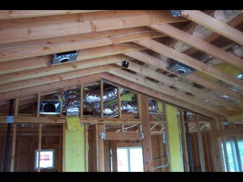 How To Convert A Conventional Flat Ceiling Into A Vaulted Ceiling Youtube Roofingtop Roof Framing Roofing Vaulted Living Rooms