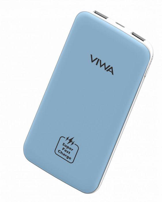 Viwa Rock Fast Charging Power Bank 10000 Mah Light Blue Powerbank Portable Power Bank Fast Charging