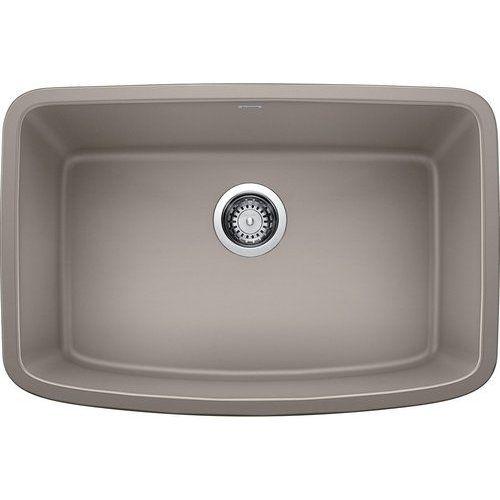 Blanco 27 Inch Valea Undermount Single Bowl Kitchen Sink Truffle
