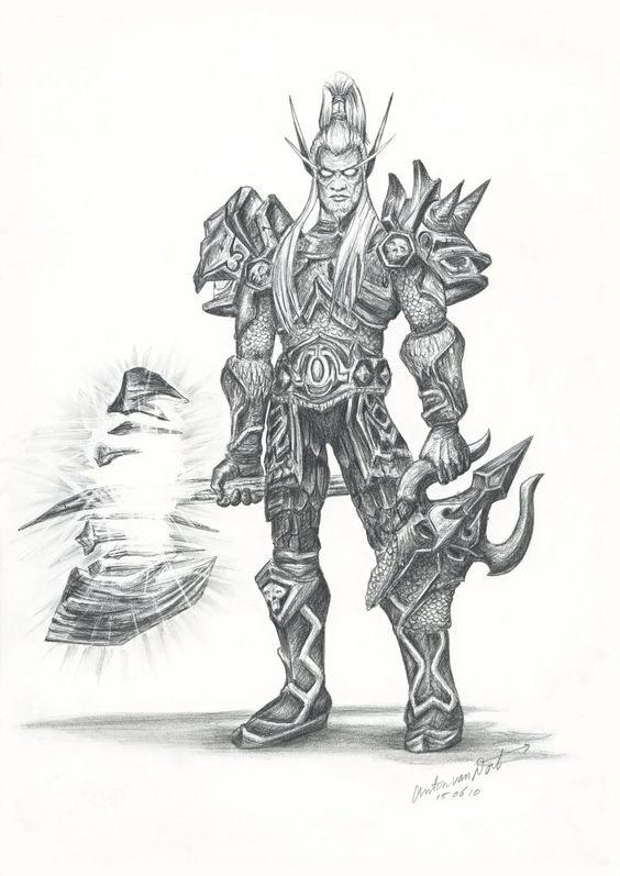 World of Warcraft Blood Elf Drawing Warcraft art