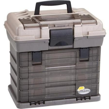 Fishing: High Impact Clear Top Fishing Tackle Box, Brown and Beige * Visit the…