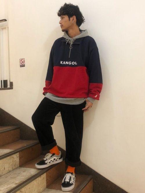 宮城 rageblue池袋パルコ店 rageblueのスウェットを使ったコーディネート wear ファッション トップス パーカー