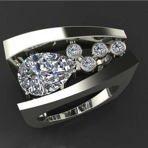 Bliss Women S Geometric Three Dimensional Diamond Ring Walmart Com Colored Engagement Rings Color Engagement Rings Vintage Wedding Rings Vintage