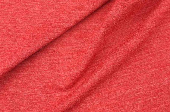 Fabulous Merino Wool Jersey in Heathered Red