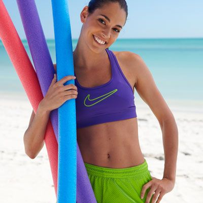 """Here's what to do:    1. Grab a beach ball, a Frisbee, and a pool noodle.    2. Head down to the beach, out to the yard, or over to the park (don't forget your sunscreen).    3. Get ready to play off some serious fat and calories!    This 30-minute routine by instructor Carol Johnson is based on her hot """"Chisel"""" class at Crunch in New York City. Do it 4 times a week to lose up to 3 inches in 4 weeks."""