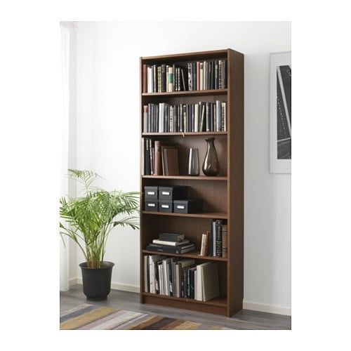Billy Boekenkast Bruin Essenfineer 80x28x202 Cm Ikea Billy Bookcase Bookcase Shelves