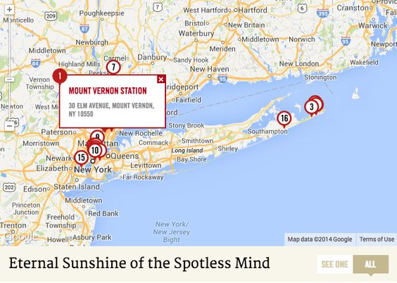 """""""Meet Me In Montauk"""": The Ultimate #EternalSunshine Location Map"""