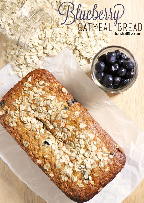 Blueberry oatmeal bread, Oatmeal bread and Blueberry oatmeal on ...