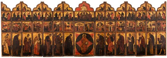 Russian portable iconostasis, Moscow school, early 19th century
