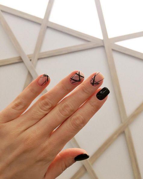 20 minimalist nail art ideas for the lazy cool girl | Beauty | FASHION Magazine |