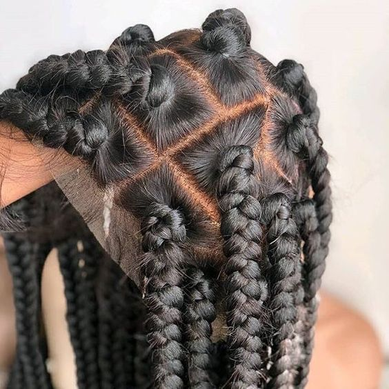 """Length: 30"""" inches. Or the length can be made in any inches of your choice, just message me. This unit is braided on a full lace. The lace comes with bleached knots and there are wig combs underneath for a good fitting when worn.   FULL lace wig description: With a full lace wig, all parts of the"""