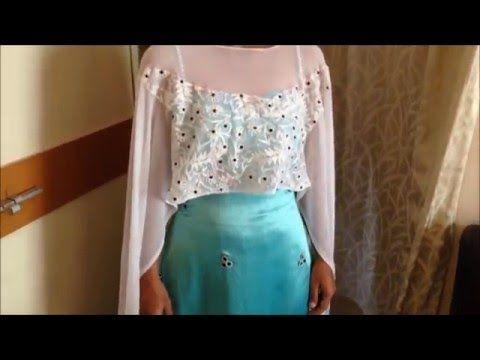 fabric poncho & Dupatta poncho - YouTube