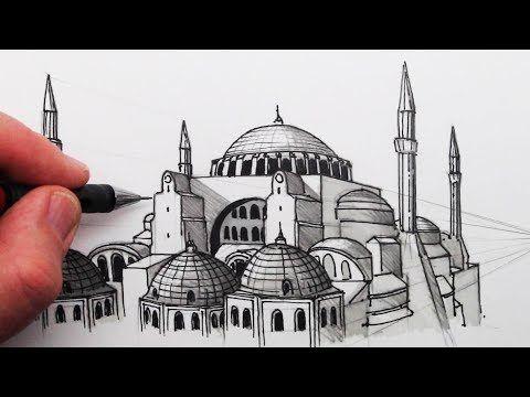 Circle Line Art School Youtube Perspective Art Youtube Art Tutorials Hagia Sophia