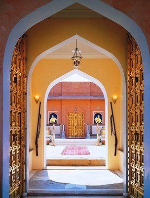 Ganesh Pol (Elephant Gate) at the Naila Hindu Fort in Rajasthan, India - Hindu #architecture