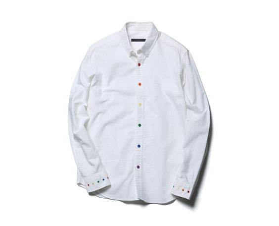 SOPHNET. MULTI COLOR DOT OXFORD B.D SHIRT