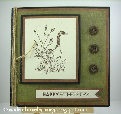 Made @ Home: Happy Father's Day card using Stampin' Up Wetlands (PTI Keep it Simple: Father sentiment)