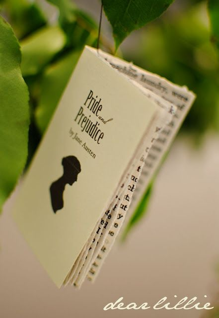Jane Austen mini book // Maybe fill with blank pages to make a mini notebook. Might also be good as an ornament.