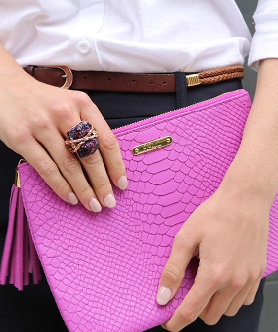 Love this pink clutch