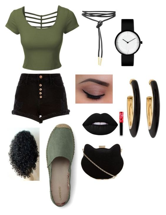 """Untitled #12"" by niania-i on Polyvore featuring River Island, LE3NO, Lands' End, Lime Crime, New Look and Chico's"