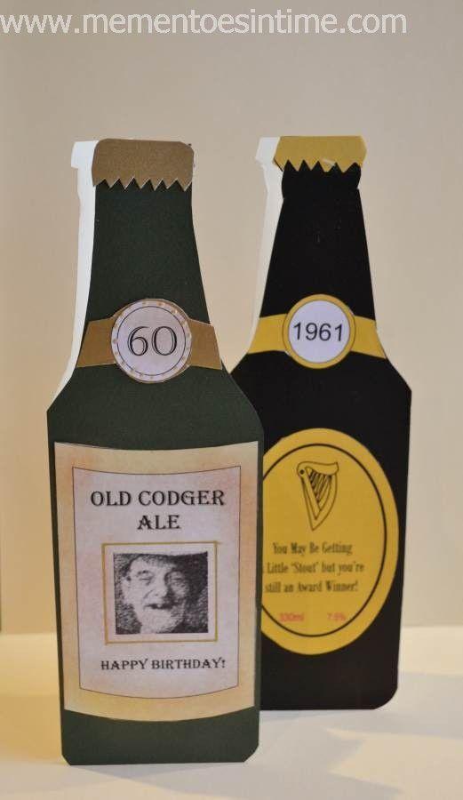 Beer Bottle Template Beer Birthday Cards Beer Card Birthday Cards For Men