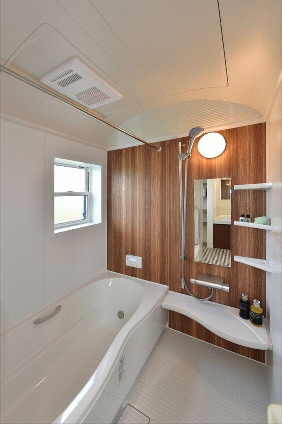 光あふれる広々リビングに家族が集うステキなブルックリンスタイルの家 寺島製材所の写真集 浴室 インテリア バスルーム おしゃれ 浴室 おしゃれ