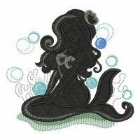 Mermaid Silhouettes - Wind Bell Embroidery | OregonPatchWorks