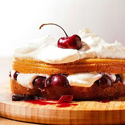 41 ways with summer stone fruits - Giant Cherry Shortcake - Sunset