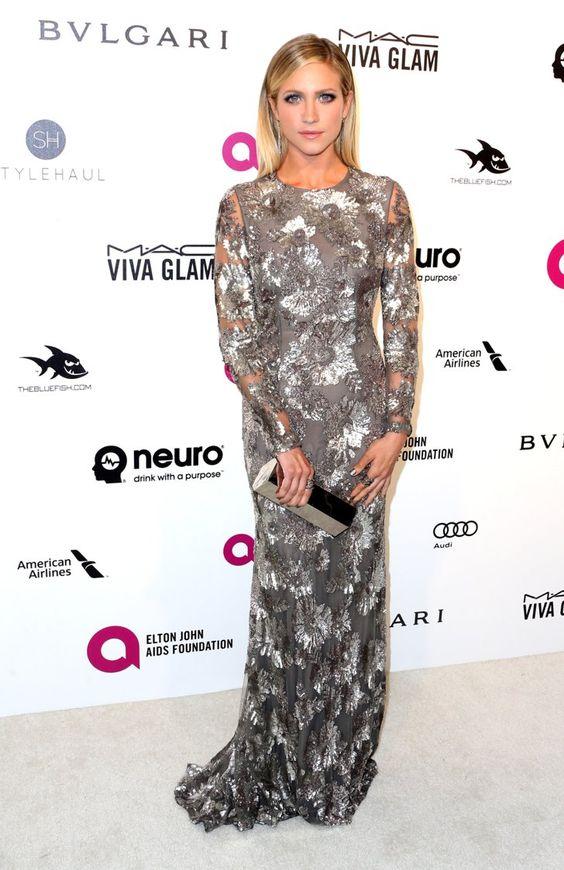 Pin for Later: Les Stars S'éclatent à la Soirée Organisée Par Elton John Pour les Oscars Brittany Snow