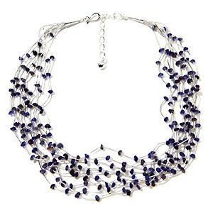 Jay King 10-Strand Liquid Silver Iolite Necklace at HSN.com.
