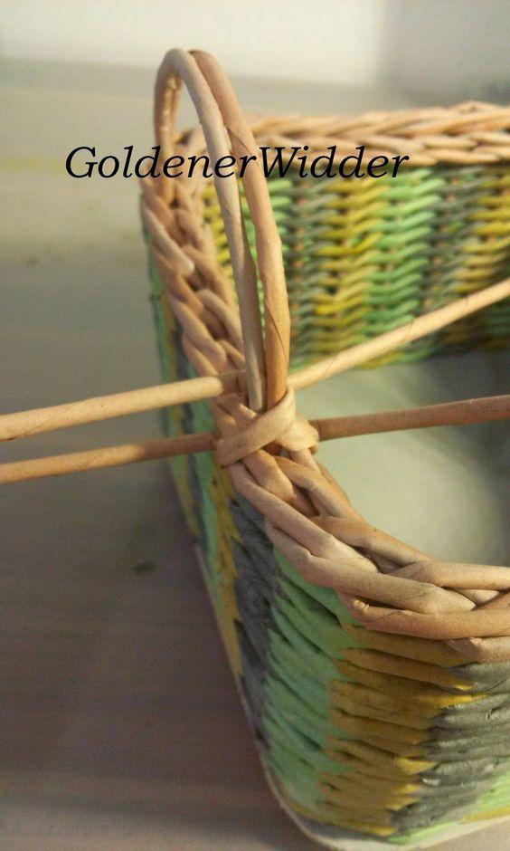 Плетение подносов с ручкой