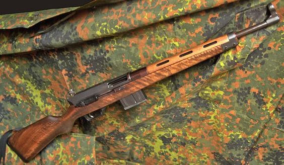 H SL7 A comment on the H SLB 2000 mentioned that there was a hunting rifle that looked like the G43. The SL7 was basically H's attempt to make the G3 into a hunting rifle. It doesn't use the G3's magazines but has the same roller-delayed system along with the front and rear sights. Also no longer in production. It bears a very heavy resemblance to the G43; whether or not H did this as a historic nod to German firearm history is unclear.