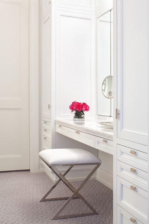 Closet Makeup Vanities In Walk Closets Design Pictures Remodel Decor And Ideas