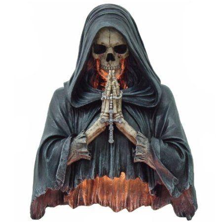 Gothic Wandlampe betender Reaper Skull Schädel: Amazon.de: Küche & Haushalt