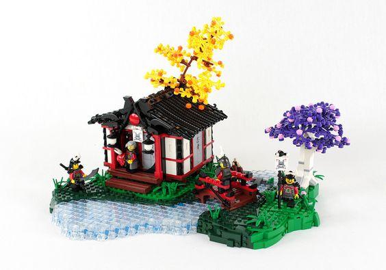 Japanese serenity recreated in Danish bricks