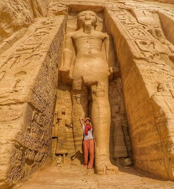 Today Indianalyssa hung out with Ramses II at Abu Simbel near the border of Sudan...even though his mummy isn't actually there I 100% felt like the statues were going to start moving and the chamber doors were going to shut.  . Photo taken with a @gopro #Hero 5 and a selfie stick that turns into a tripod! . #indianajones #indianalyssa #egypt #aswan #abusimbel #africa #middleeast #mylifesamovie #mylifesatravelmovie #travelblogger #travelblog #gopro #goprogirl #goprotravel #unesco #...