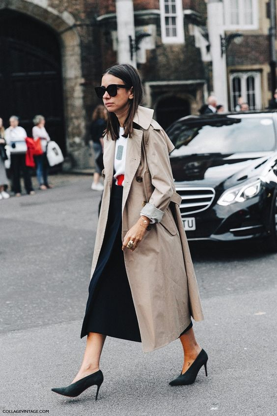 London_Fashion_Week-Spring_Summer_16-LFW-Street_Style-Collage_Vintage-Natasha_Goldenberg-Celine_Shoes-Trench_Coat-Midi_Skirt-3: