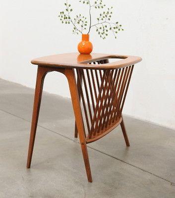 1960s Mid Century Modern ARTHUR UMANOFF Magazine Table Danish Kagan Eames Era