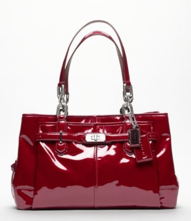COACH CHELSEA PATENT LEATHER JAYDEN CARRYALL TOTE (to match my car, naturally)
