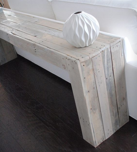 reclaimed wood console table meubles milieu et hue. Black Bedroom Furniture Sets. Home Design Ideas