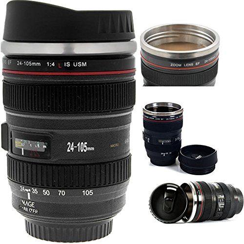 Coffee Mug Camera Lens Thermos Travel Mugs For Men