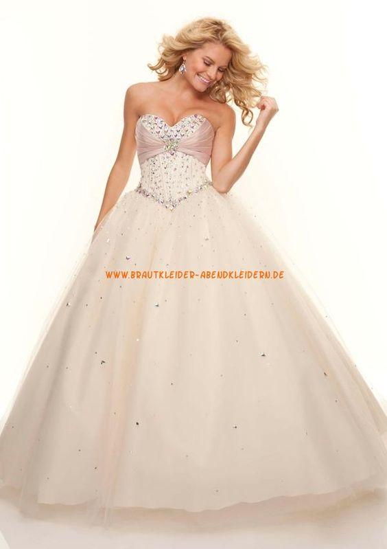 2013 Luxuriöse Abendkleider aus Organza Ballkleid für Prinzessin