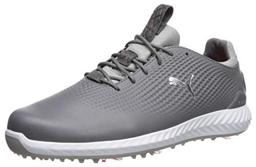 Mens Puma Golf Shoes Clearance Puma Golf Men S Ignite Pwradapt Leather Golf Shoe Quiet Shade Silver Puma White Golf Shoes Mens Womens Golf Shoes Golf Shoes