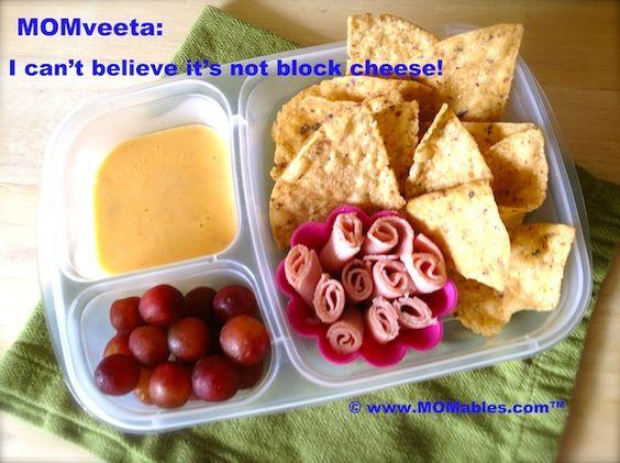 MOMveeta: I can't believe it's not block cheese! Homemade velveeta MOMables.com -Football game tray