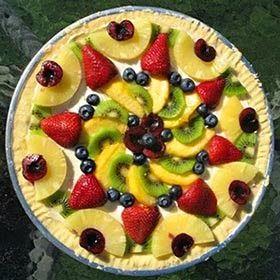 Resultado de imagem para Mandala de frutas no prato em círculo