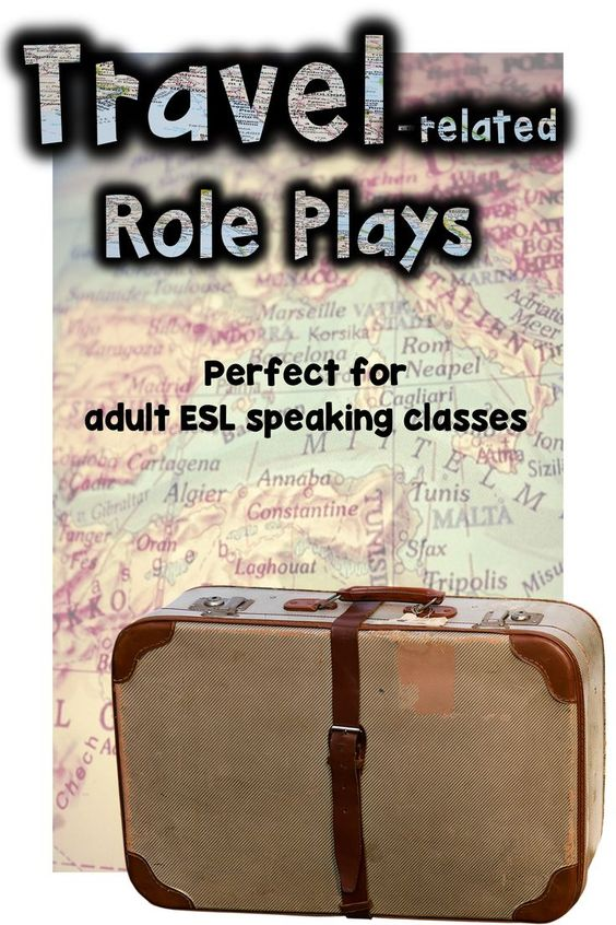 Our adult ESL students are seasoned travelers.  These role plays were written with them in mind.  Use in any speaking class.  Use with a unit on travel.  Use just for fun!
