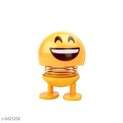 Novelty Dancing Shaking Head Emoji Spring Dolls Funny Expression Bounce Toy For Car Dashboard Emoji Doll Novelty Toys Dolls