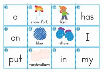 Winter Sentence Scramble with Cut and Paste Worksheets. Includes cards for use in a pocket chart center and differentiated follow-up cut and paste worksheets.